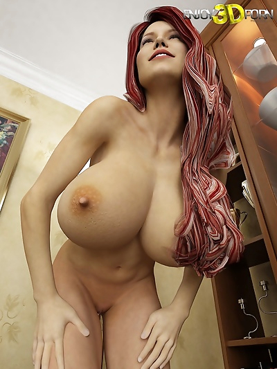 Super hot redhead babe with..