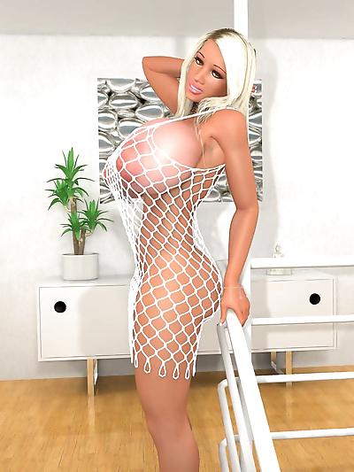 Bigtitted 3d blonde hottie..