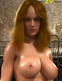 Oiledup prisoner with athletic nude body and giant tits - part 31