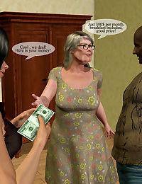 Unspicious inn owner grandma turn into a perverted mistress - part 3