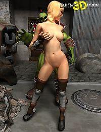 Green goblin with gorgeous blonde warrior girl - part 14