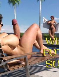 Wet Hot Futanari Summer