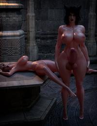 3DX851 Threesome Demon Fuck - Resident Futanari - part 3