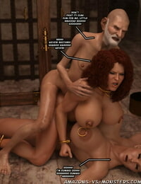 Amazons-Vs-Monsters Red Sanya - The Wizards Dungeon - part 5