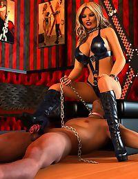 Female Domination Ballbusting & Chastity Cock Art